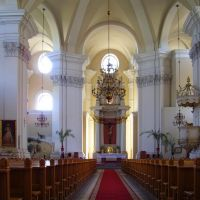 Leszno - St. of Cross Church,built in late  1711- 1720 - interior, Лешно