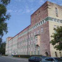 Schneidemühl. Regierungsgebäude. Westfassade zum Danziger Platz, Пила