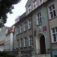 Schneidemühl. Moltkestraße und 2. Gemeindeschule (Städtischer Festsaal), Пила