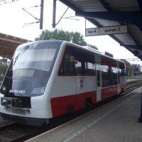 Mini-Schienenbus im Bahnhof Schneidemühl, Пила