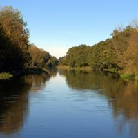 Piła, rzeka Gwda; Gwda river, Пила