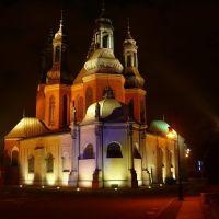 Poznań, Katedra nocą, Познань