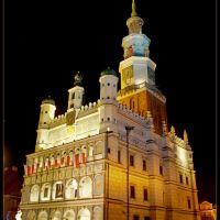 Poznań - Ratusz nocą/City Hall by night - malby, Познань