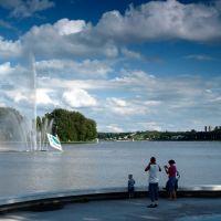 Poznan Poland - Malta lake, fountain, Познань