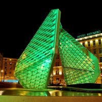Poznan, Plac Wolnosci Square, magic fountain, Познань