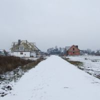 Nowe osiedle zimową porą., Срода-Велкопольска