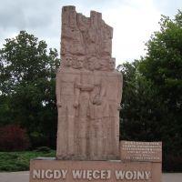 """Denkmal in Turek """"Nie wieder Krieg"""", Турек"""