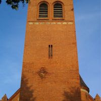 St.Anthony Church tower (artillery damage from WWII) - west side, Валч