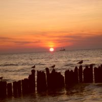 Sonnenuntergang an der polnischen Ostsee;            Sunset on the Polish Baltic Sea;, Колобржег