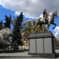 Szczecin -/...Plac LOTNIKÓW.../miastem MAGNOLII...z Pomnikiem  Bartolomego Colleoniego, Щецин