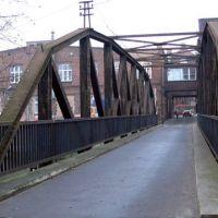 Szczecin, wyspa Jaskółcza - stary nitowany most, Щецин