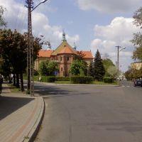 Łask - ul. Warszawska, Ласк