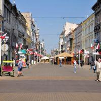 Łódź - Panorama Piotrkowska street, Лодзь