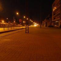 ul. Łaska na wysokosci dworca PKP, Пабьянице