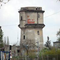 Kolejowa wieża ciśnień-2011 rok - widok z ulicy Mlodzowskiej, Радомско