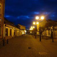 deptak na Brzeskiej wieczorem, Биала Подласка