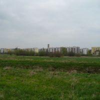 Bloki przy ul. Nadstawnej od strony kładki na Ładzie, Билгорай