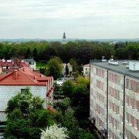 Zamość widok z balkonu bloku przy Orzeszkowej w stronę Starego Miasta, Замосц