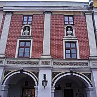 Kamienica Linkowska (Linkowa) z rzeźbami przedstawiającymi Minerwę i Herkulesa, Замосц