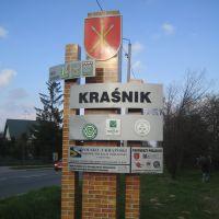 Rogatka Kraśnika / Ortsschild von Kraśnik / Sign of Kraśnik, Красник