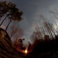 Ognisko w księżycową noc, Красныстав