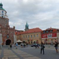 Lublino - davanti all ingresso della città Vecchia, Люблин