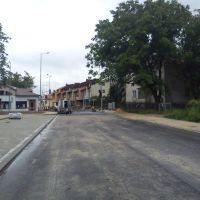nowa ulica w Tomaszowie /new street in Tomaszów, Томашов Любельски