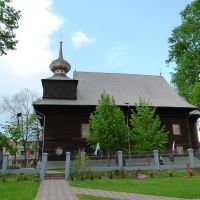 Tomaszów Lubelski - wooden baroque church of Annunciation (built in 1727)., Томашов Любельски