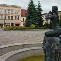 Koźle Rynek fontanna i ściana wschodnia, Кедзержин-Козле