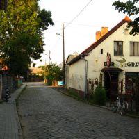 """Ulica grzybowa i bar """"Grzybek"""", Кедзержин-Козле"""
