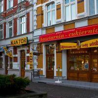 Kędzierzyn-Koźle - ul. Piastowska -wymień walutę i kup ciastko.../ replace the currency and buy cake ..., Кедзержин-Козле