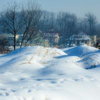 Winter - poranek na fortach - Nysa, Ныса