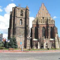 Katedra Św. Jakuba i Św. Agnieszki w Nysie, obok nigdy niedokończona dzwonnica, Ныса