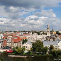 Opole, widok z wieży Piastowskiej, Ополе