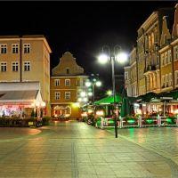 Opole - opolski Rynek nocą, Ополе