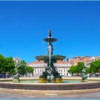 Plaza  del Rossio  en  Lisboa (f). Dedicada  a  **Carmen**, Лиссабон