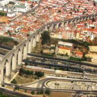 LISBOA - Aqueduto das Águas Livres (1748) , vista aérea           ***           LISBON Aqueduct  Free Water (1748) , aerial view), Лиссабон