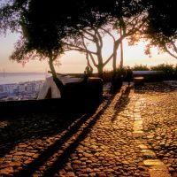 Lisbonne depuis les jardins du Chateau Saint Georges, Лиссабон