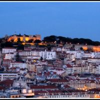 Lisboa, vista do Castelo ao fim da tarde   /  late afternoon view of the Castle area, Лиссабон