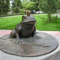 Sculpture of The Frog Princess - character of Russian folk tales, Абакан