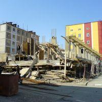 Жилстроительство на ул. Ленина возле дома радио и ТВ., Анадырь