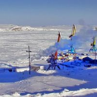 Anadyr Port at the Winter Time, Анадырь