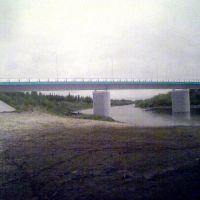 новый мост через р.Аган (октябрь 2011г.), Радужный