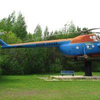 Вертолет на постаменте. Памятник Ми-4., Урай