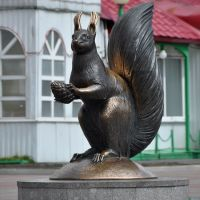 Monument to Squirrel - the symbol of Langepas, Лангепас