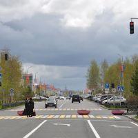 Lenina street in Langepas, Лангепас