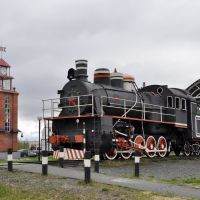 Steam locomotive on Retro square, Лангепас