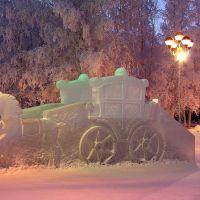 *** Ледяная горка на центральной площади ***, Нижневартовск