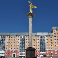 "Monument to Patrons ""Kind Angel of Peace"" in Nizhnevartovsk, Нижневартовск"