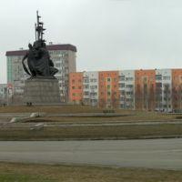 Сургут. Центр. Памятник основателям города., Сургут